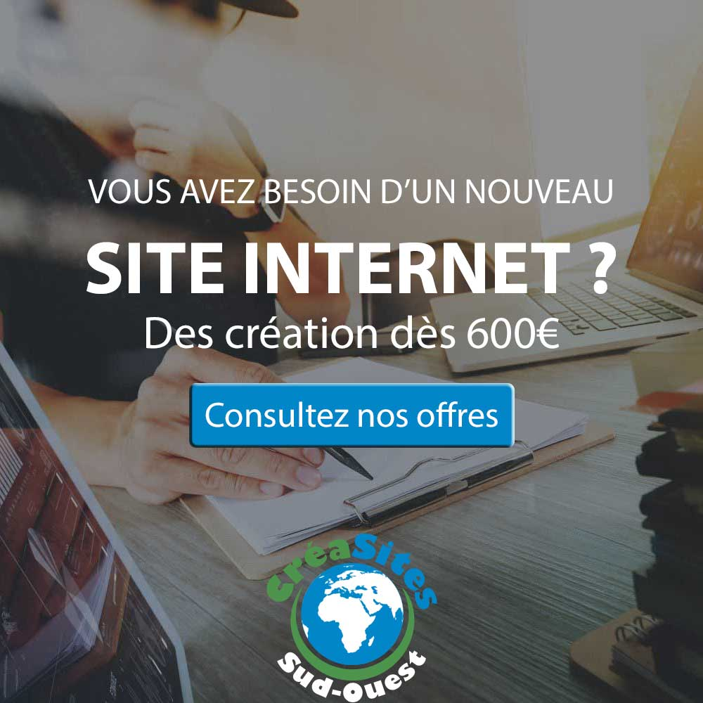 Cr ation de site internet bordeaux cr asites sud ouest for Idee creation site internet